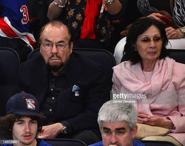 James Lipton and Kedakai Turner attend the Ottawa Senators vs New York Rangers game at Madison Square Garden on April 21 2012 in New York City