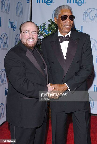 James Lipton and Morgan Freeman during 16th Annual Producers Guild Awards Red Carpet at Culver Studios in Culver City California United States