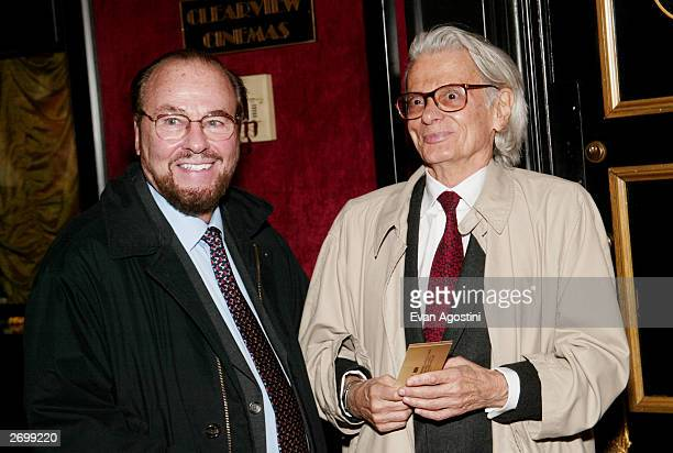 James Lipton and Richard Avedon attend the HBO FILMS Premiere of Angels In America at The Ziegfeld Theater November 04 2003 in New York City