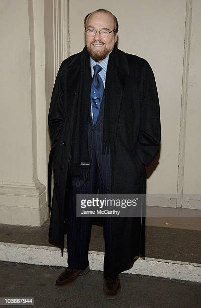 """James Lipton arrives at the broadway opening night of """"Passing Strange"""" at the Belasco Theatre in New York on February 28,2008"""