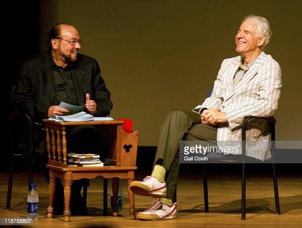 James Lipton left interviews Steve Martin at the Nantucket Film Festival
