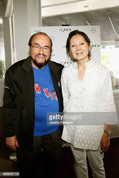 James Lipton of Inside The Actors Studio and Kedakai Turner attend DuJour Magazine's Haley and Jason Binn 15th Annual Hamptons Summer KickOff by...