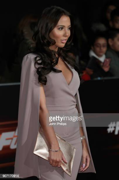 James Locke and Yazmin Oukhellou attend the 'Fast and Furious Live' premiere at the O2 Arena on January 19 2018 in London England