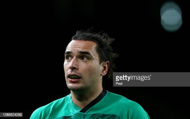 James Lowe of Ireland looks on during the Autumn Nations Cup 2020 match between Ireland and Wales at the Aviva Stadium on November 13, 2020 in...