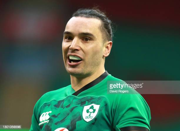 James Lowe of Ireland looks on during the Guinness Six Nations match between Wales and Ireland at Principality Stadium on February 07, 2021 in...