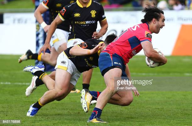 James Lowe of Tasman during the round four Mitre 10 Cup match between Tasman and Wellington at Lansdowne Park on September 10 2017 in Blenheim New...
