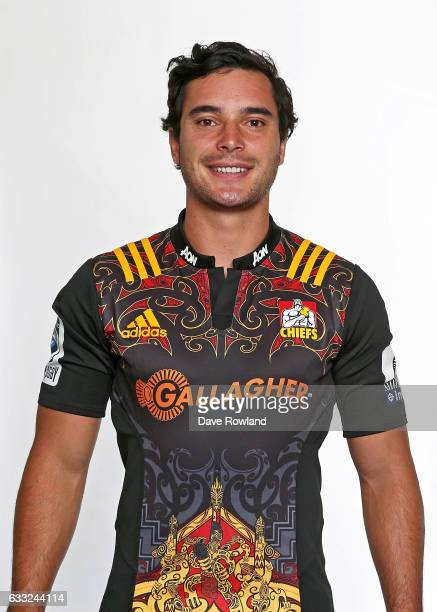 James Lowe poses during a Chiefs Super Rugby headshots session on February 1 2017 in Hamilton New Zealand