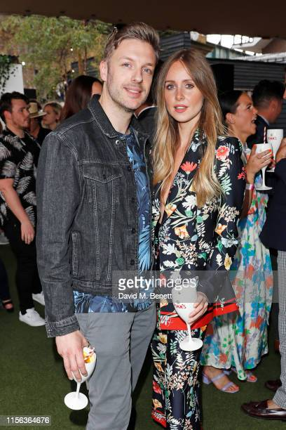 James Loxley and Diana Vickers celebrate the Pimm's Summer Garden at Flat Iron Square on July 18 2019 in London England