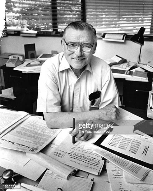 FILE James M Buchanan poses for a portrait in his office at George Mason University in Fairfax Virginia on June 26 1985 Buchanan 1986 Nobel laureate...