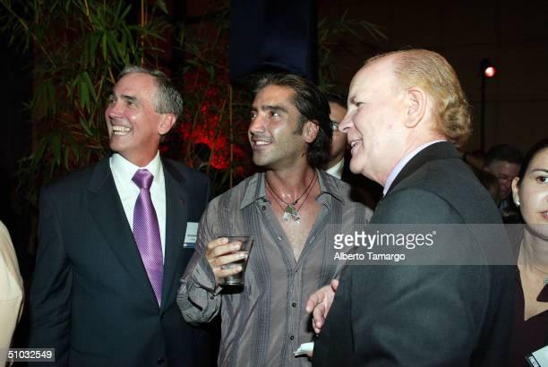 James M McNamara President and CEO of Telemundo Alejandro Fernandez and Bob Wright Vice Chairman and Executive Officer General Electric Company...