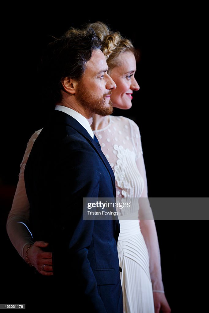 James MacAvoy and Ann-Marie Duff attend the EE British Academy Film Awards at The Royal Opera House on February 8, 2015 in London, England.