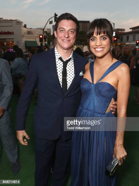 James Mackay and Natalie Morales at Fox Searchlight's 'Battle of the Sexes' Los Angeles Premiere on September 16 2017 in Westwood California