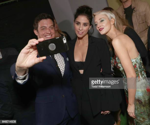 James Mackay Sarah Silverman and Andrea Riseborough at Fox Searchlight's 'Battle of the Sexes' Los Angeles Premiere on September 16 2017 in Westwood...