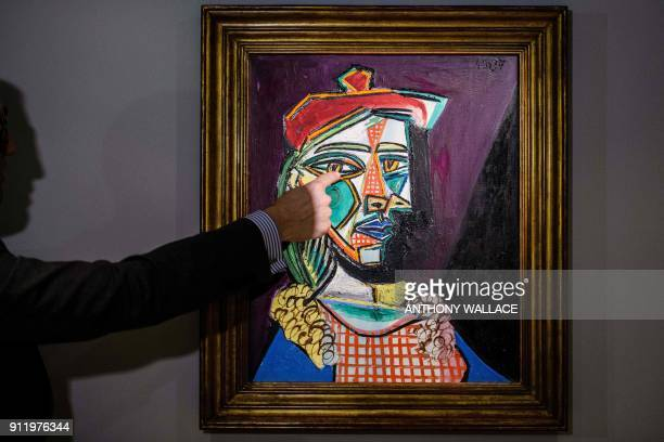 James Mackie Sotheby's senior director and head of the Department Impressionist and Modern Art introduces Pablo Picasso's 1937 oil painting 'Femme au...