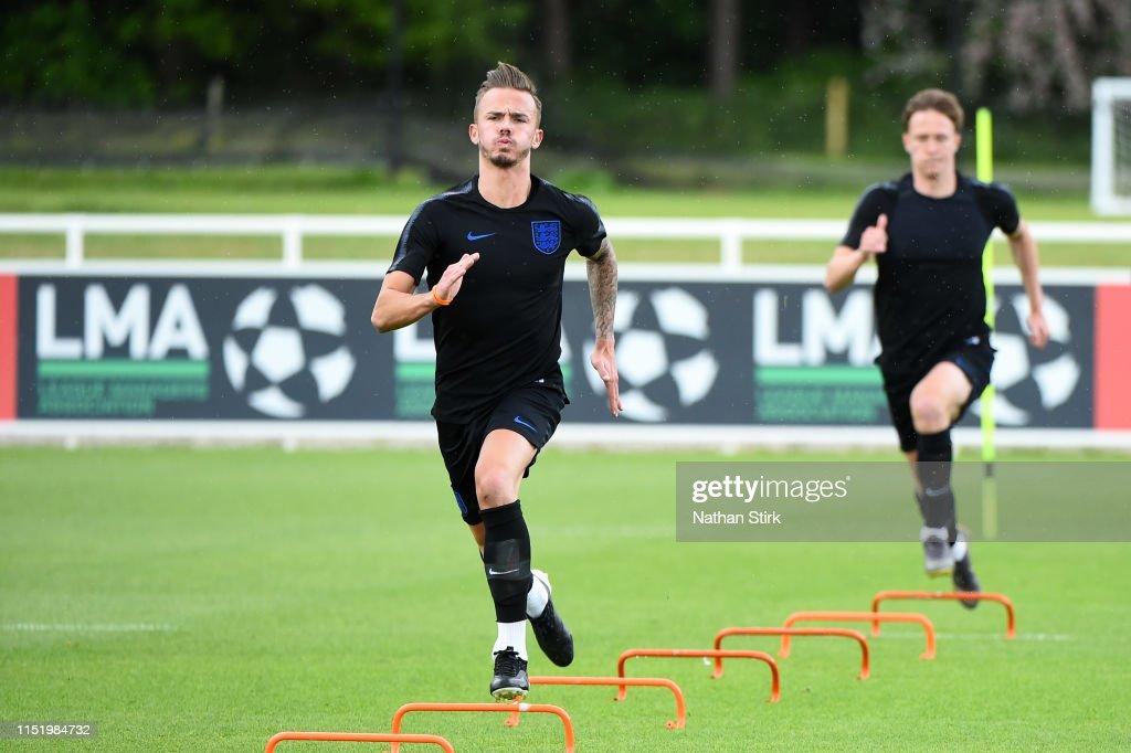 GBR: England U21 Training Session