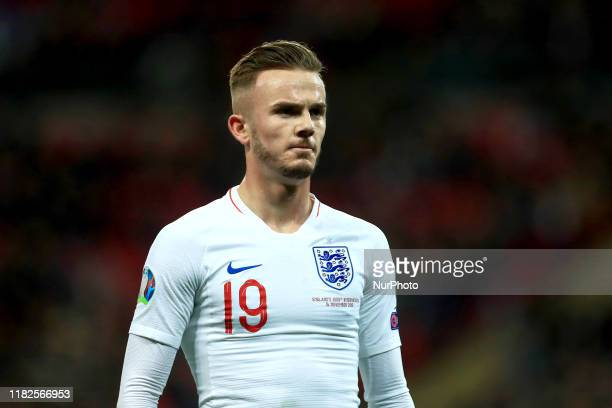James Maddison of England during the UEFA European Championship Group A Qualifying match between England and Montenegro at Wembley Stadium, London on...