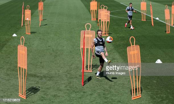 James Maddison of Leicester City during the Leicester City training session at Belvoir Drive Training Complex on May 26th, 2020 in Leicester, United...