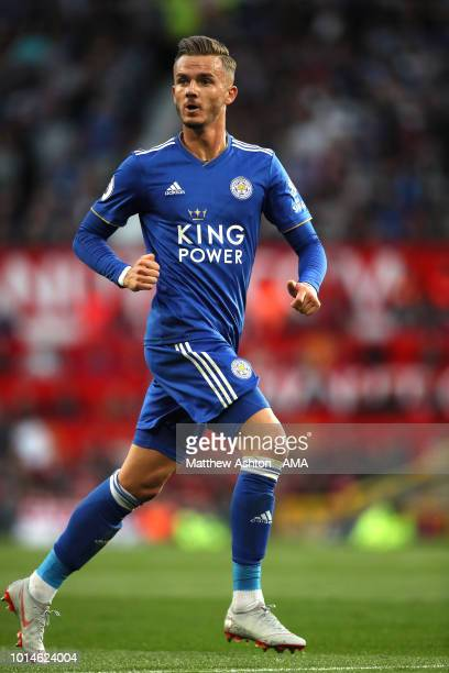 James Maddison of Leicester City during the Premier League match between Manchester United and Leicester City at Old Trafford on August 10 2018 in...