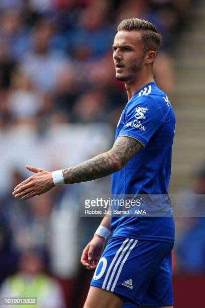 James Maddison of Leicester City during the Premier League match between Leicester City and Wolverhampton Wanderers at The King Power Stadium on...