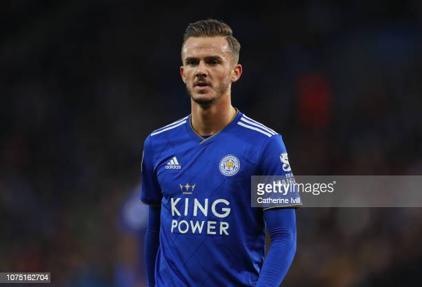 James Maddison of Leicester City during the Premier League match between Leicester City and Manchester City at The King Power Stadium on December 26...