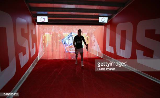 James Maddison of Leicester City heads back to the dressing room ahead of the preseason friendly match between Lille and Leicester City at Stade...