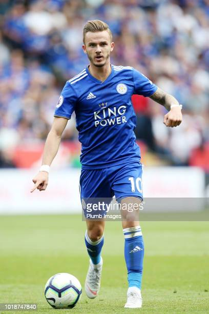 James Maddison of Leicester City in action during the Premier League match between Leicester City and Wolverhampton Wanderers at King Power Stadium...