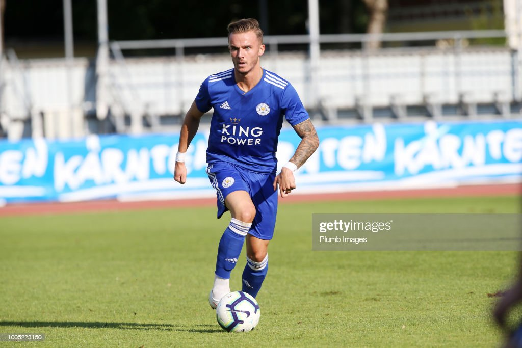 James Maddison of Leicester City in action during the pre-season friendly match between Leicester City and Akhisarspor at Stadion Villach on July 25th, 2018 in Villach, Austria.