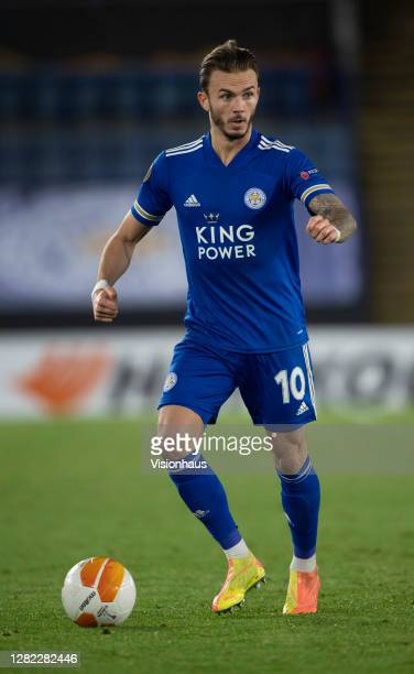 James Maddison of Leicester City in action during the UEFA Europa League Group G stage match between Leicester City and Zorya Luhansk at The King...