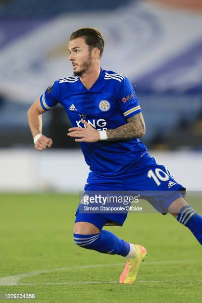 James Maddison of Leicester in action during the UEFA Europa League Group G match between Leicester City and Zorya Luhansk at The King Power Stadium...
