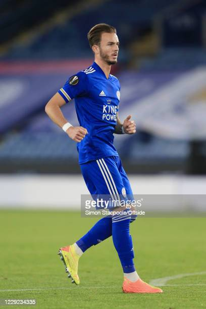 James Maddison of Leicester looks on during the UEFA Europa League Group G match between Leicester City and Zorya Luhansk at The King Power Stadium...