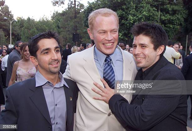 James Madio Neal McDonough and Rick Gomez at the premiere of HBO's 'Band of Brothers' at the Hollywood Bowl Los Angeles Ca 8/28/01 Photo by Kevin...