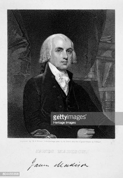 James Madison 4th President of the the United States of America Madison was president from 1809 until 1817 One of the Founding Fathers of the United...