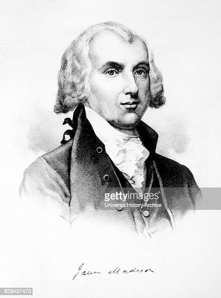 James Madison 4th President of the United States of America Engraving