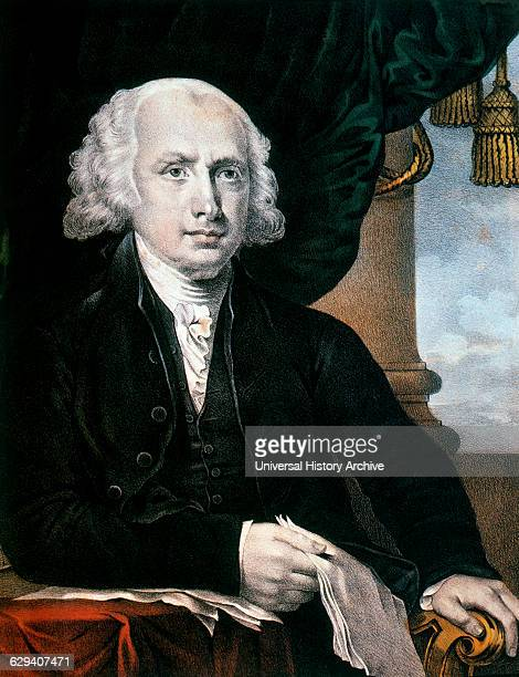 James Madison 4th President of the United States of America Inspired From a Painting by Gilbert Stuart