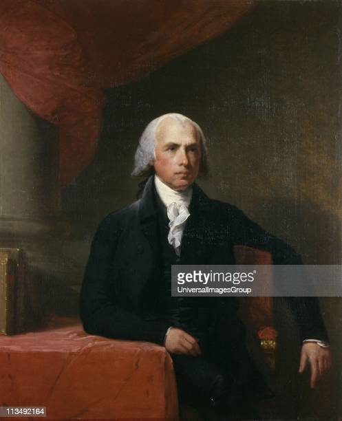 James Madison American politician and political philosopher Fourth President of the United States 18091817 Portrait by Gilbert Stuart 18051807