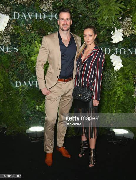 James Magnussen and partner attends the David Jones Spring Summer 18 Collections Launch at Fox Studios on August 8 2018 in Sydney Australia