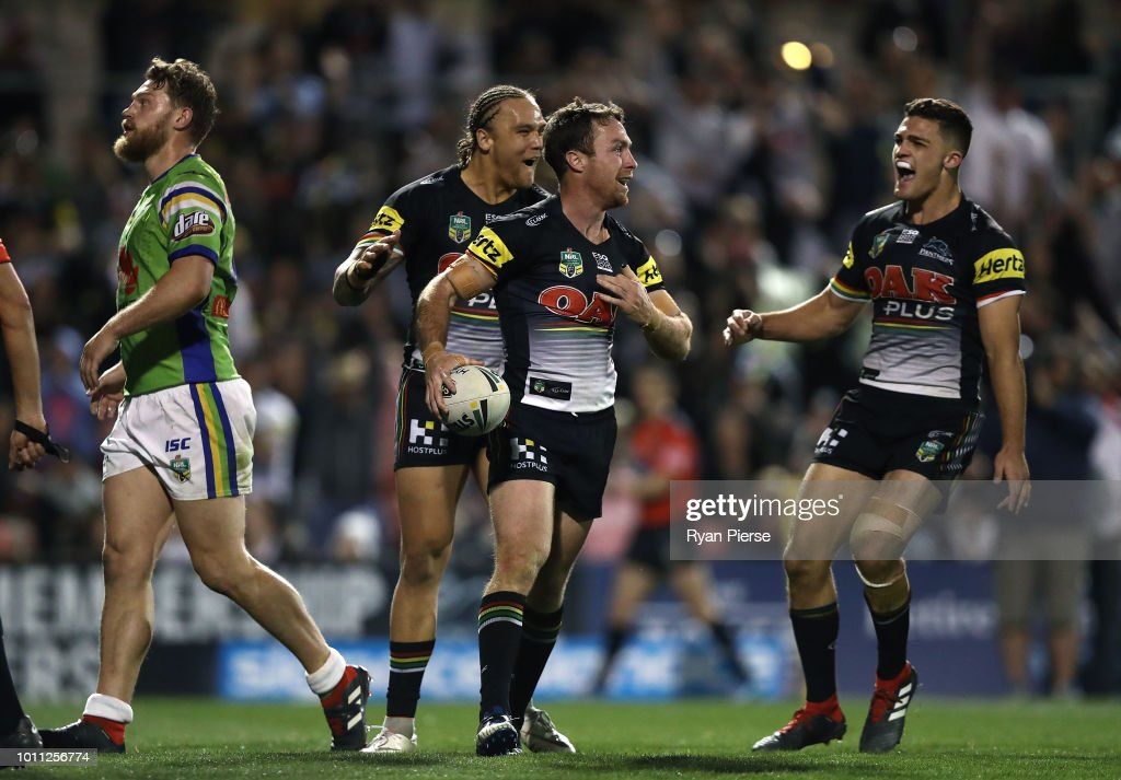 NRL Rd 21 - Panthers v Raiders : News Photo