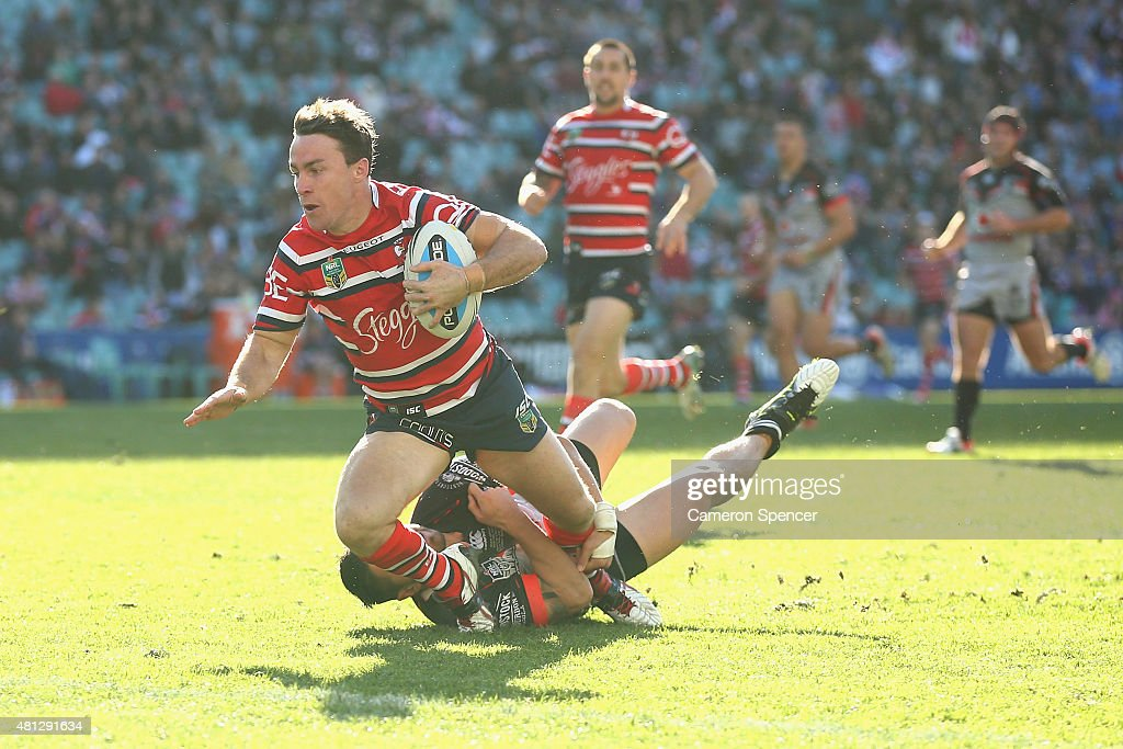 NRL Rd 19 - Roosters v Warriors : News Photo