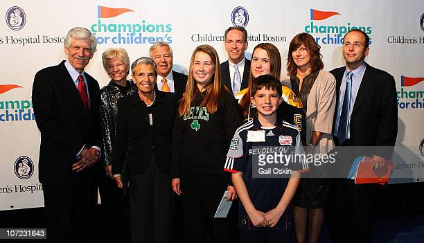 James Mandell Sandra Fenwick Myra Kraft Robert Kraft John Fish Patti Kraft and Jonathan Kraft attend Children's Hospital Boston Champions For...