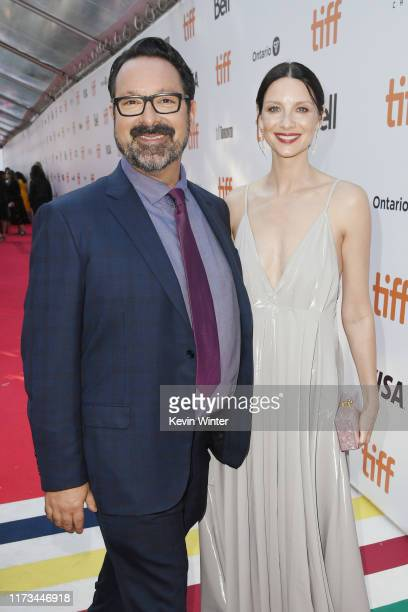 James Mangold and Caitriona Balfe attends the Ford v Ferrari premiere during the 2019 Toronto International Film Festival at Roy Thomson Hall on...