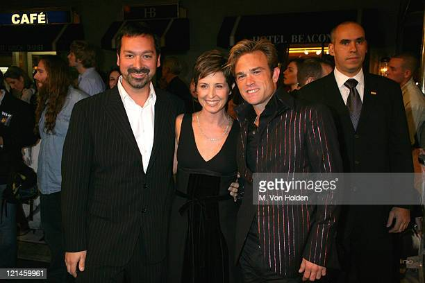 James Mangold Cathy Konrad Waylon Malloy Payne during NYC premiere of Walk the line at The Beacon Theater in New York New York United States