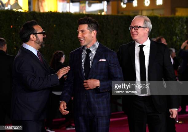 James Mangold Jon Berntha and Tracy Letts attend the Premiere Of FOX's Ford V Ferrari at TCL Chinese Theatre on November 04 2019 in Hollywood...