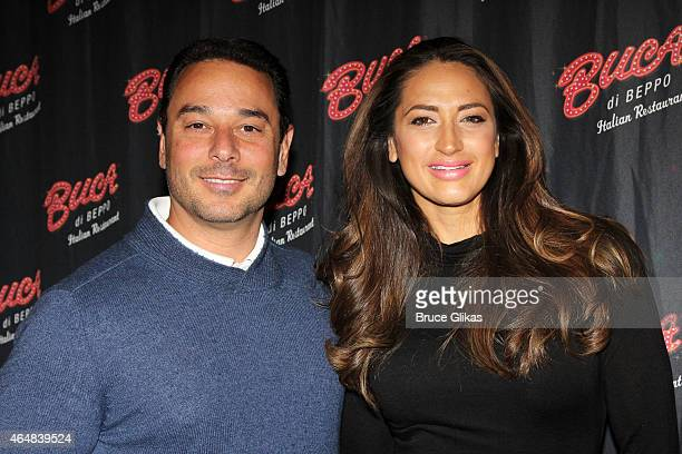 "James Marchese and wife ""The Real Housewives of New Jersey"" star Amber Marchese visit Buca di Beppo Times Sqaure on February 28, 2015 in New York..."