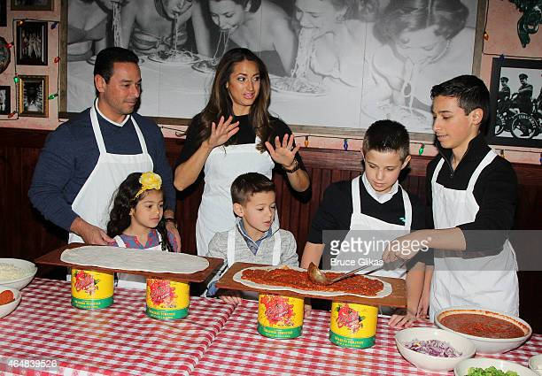 James Marchese, Isabella Marchese, Amber Marchese, Corbin Marchese, Sebastian Marchese and Michael Marchese visit Buca di Beppo on February 28, 2015...