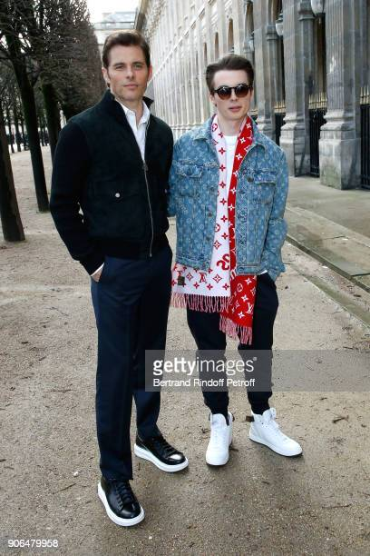 James Mardsen and his son Jack Mardsen attend the Louis Vuitton Menswear Fall/Winter 20182019 show as part of Paris Fashion Week on January 18 2018...