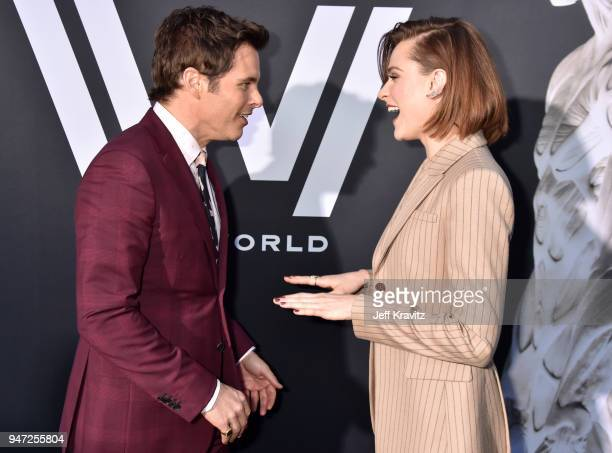 James Marsden and Evan Rachel Wood attend the Los Angeles Season 2 premiere of the HBO Drama Series WESTWORLD at The Cinerama Dome on April 16 2018...
