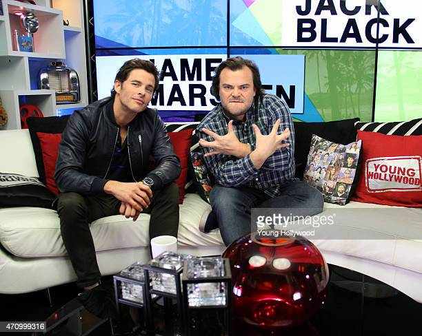 James Marsden and Jack Black visits the Young Hollywood Studio on April 24 2015 in Los Angeles California