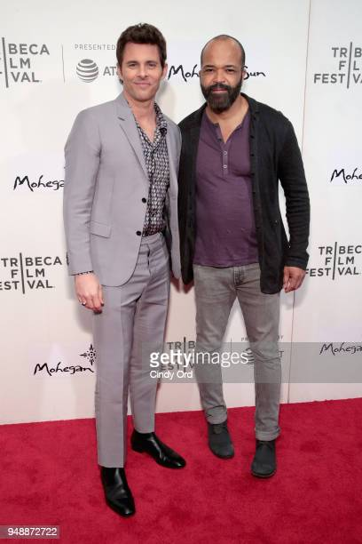 James Marsden and Jeffrey Wright attend the premiere of 'Westworld' during the 2018 Tribeca Film Festival at BMCC Tribeca PAC on April 19 2018 in New...