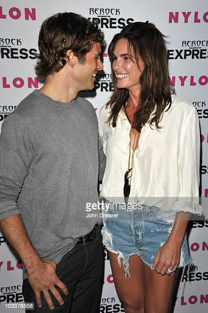 James Marsden and Lisa Linde attend the Nylon Express August Denim Issue Party at The London Hotel on August 10 2010 in West Hollywood California