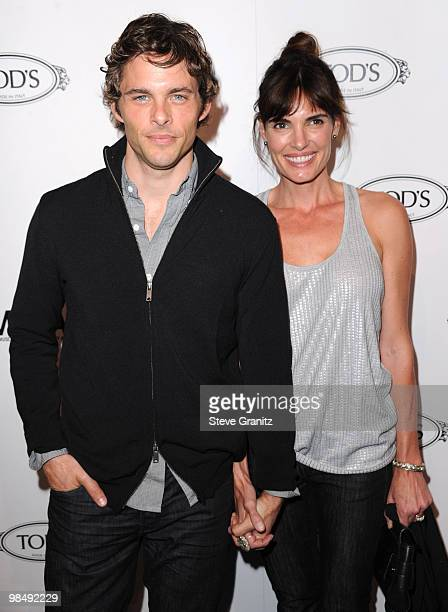 James Marsden and Lisa Linde attends the Tod's Beverly Hills Reopening To Benefit MOCA at Tod's Boutique on April 15 2010 in Beverly Hills California
